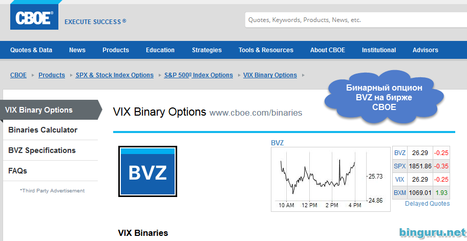 vix binary options